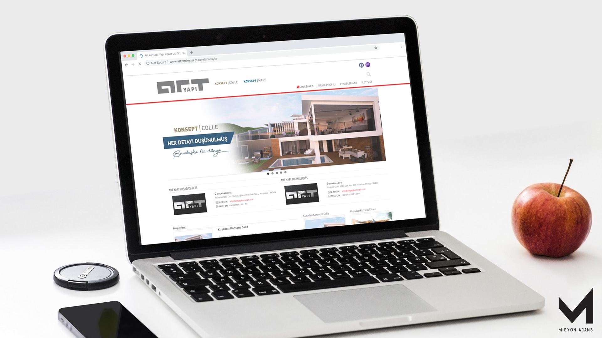 Art Yapı Konsept  Web Tasarımı