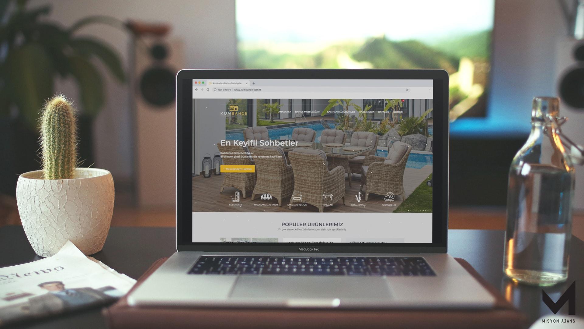 Kum Bahçe Web Site Tasarımı