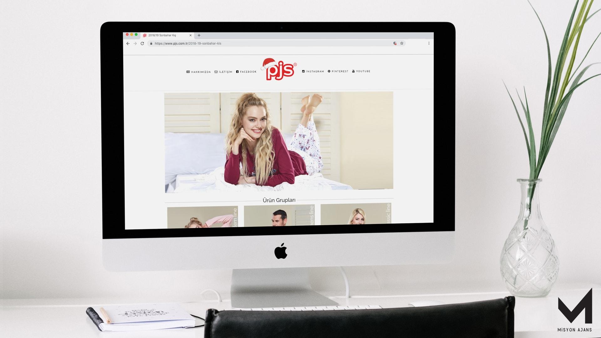 Pjs Pijama Site Tasarımı