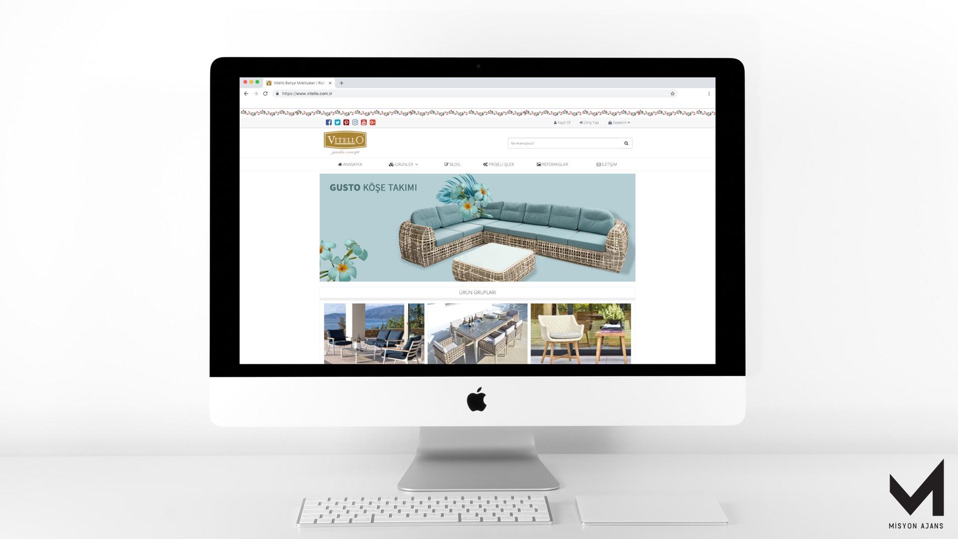 Vitello Bahçe Mobilyaları Web Site Tasarım